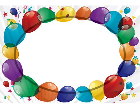 Colorful Balloons Banner Vector