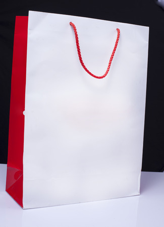 White and red paper bag Stock Photo - 26005830