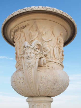 Beautiful Vase at Versailles with blue sky in the background  photo