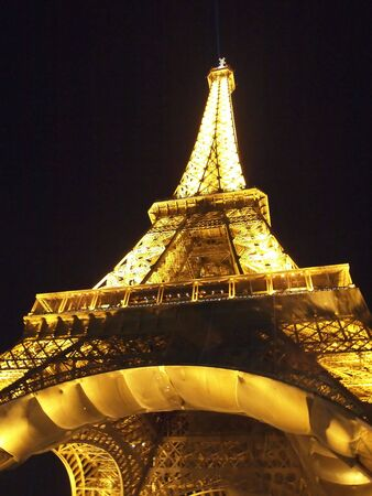 Eiffel Tower At Night at Paris in France , Europe on 20 SEP 2010