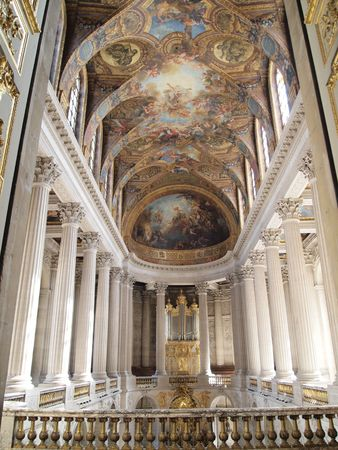 king palace: Indoor photo of Versailles Church Kind on a hall at Versailles in France