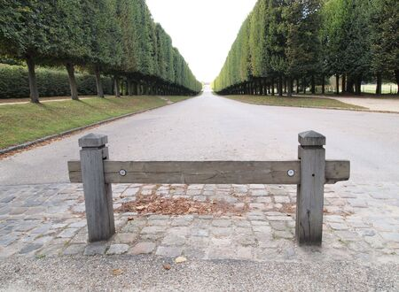 Beautiful walk way with blue sky at Versaille in France , europe Stock Photo - 8213706