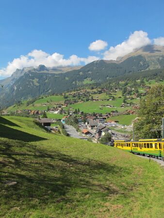 Cog-wheel train to Jungfraujoch at the Swiss Alps , in Switzerland Europe Stock Photo - 8276433