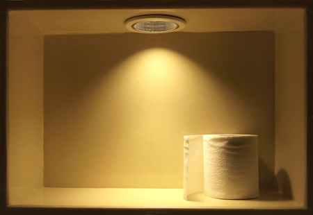 Tissue under soft light with spotlight background     photo