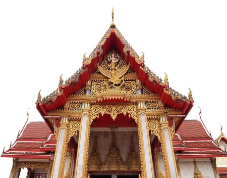 Wat Chalong Temple is dedicated to two highly venerable monks, Luang Pho Chaem and Luang Pho Chuang , who with their knowledge of herbal medicine helped the injured of a tin miners rebellion in 1876 at Phuket Thailand. Banque d'images - 8866130