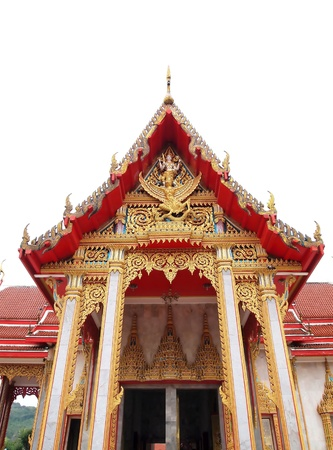 Wat Chalong Temple is dedicated to two highly venerable monks, Luang Pho Chaem and Luang Pho Chuang , who with their knowledge of herbal medicine helped the injured of a tin miners rebellion in 1876 at Phuket Thailand. 免版税图像 - 8980182