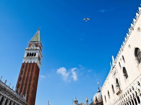 Famous square San Marco in Venice , Italy.