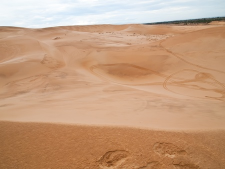 The White Sand Dunes just outside of Mui Ne are one of Vietnams charming geological oddities. photo