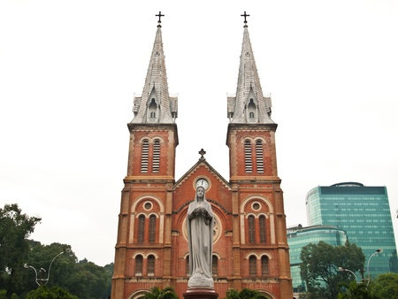 Notre Dame cathedral in Saigon Ho Chi Minh City, Vietnam. Stock Photo - 10416960