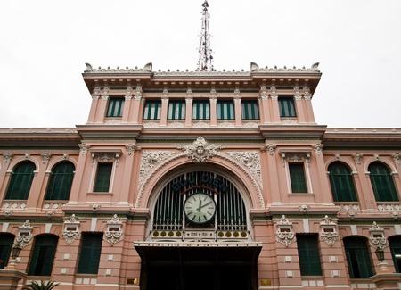 The Post Office landmark in Ho Chi Minh City, Vietnam