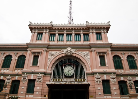 The Post Office landmark in Ho Chi Minh City, Vietnam  photo