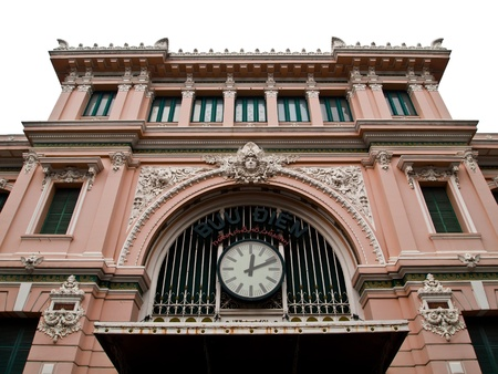 old office: Exterior view of the General Post Office in Ho Chi Minh City Saigon , Vietnam