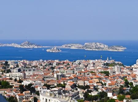 marseille: Bekijk Haven van Marseille Frankrijk en de als kasteel