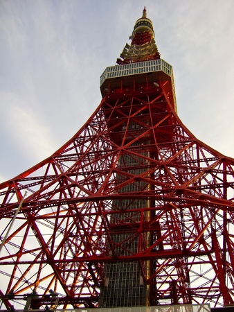 Tokyo Tower is a communications and observation tower located in Shiba Park, Minato, Tokyo, Japan. photo