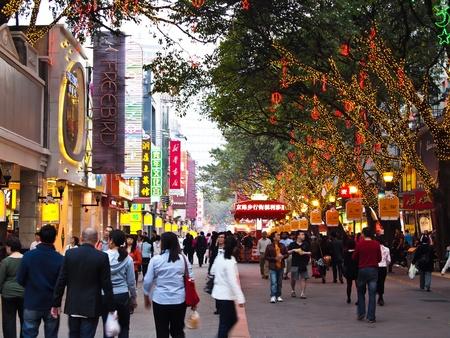 beijing: Beijing Lu , Guangzhou - February 24: Beijing Lu , one of Guangzhou