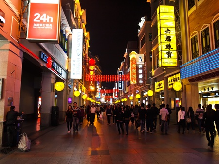 Shang Xia Jiu Street , Guangzhou - February 24 : Shang Xia Jiu Lu , one of Guangzhou