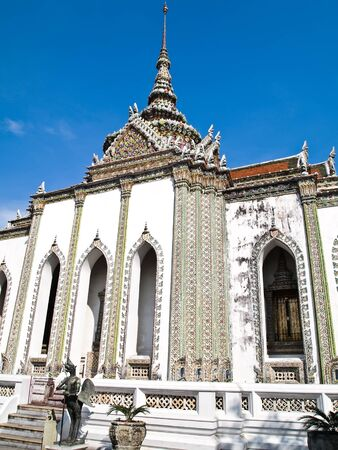 Temple at The Grand Palace Wat Phra Kaew tourism travel in bangkok of Thailand.