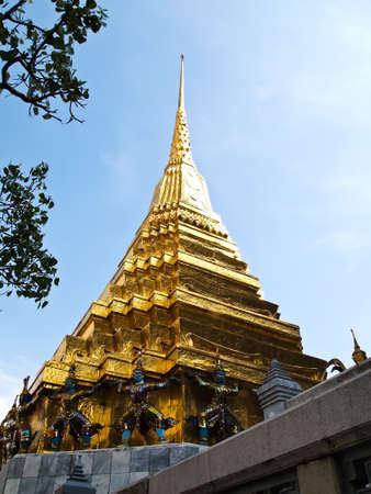Pagoda of Wat Phra Kaew,Temple of the Emerald, Bangkok in Thailand