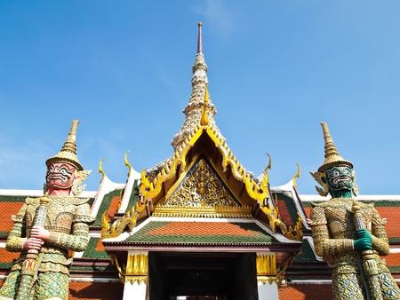gaurd: Statue two Giant gaurd at Wat Phra Kaew in Bangkok, Thailand.