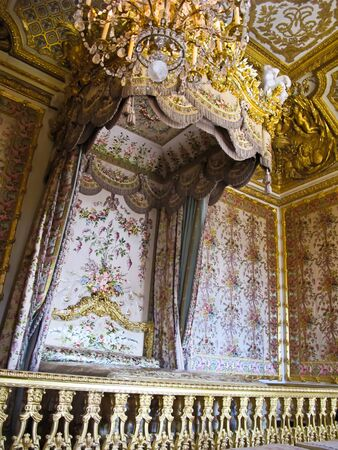 A Bedroom in Versailles castle , France , Europe photo