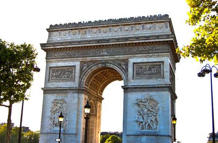 Triumphal arch , Napoleon Bonaparte at Paris in France , Europe photo
