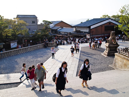 best known: Kiyomizudera is best known for its wooden stage temples , the Historic Monuments of Ancient Kyoto, Japan