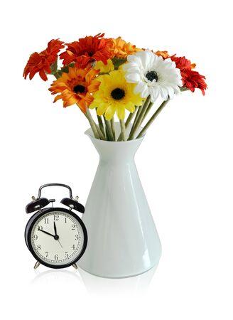 Flores de presente em um vidro Banco de Imagens