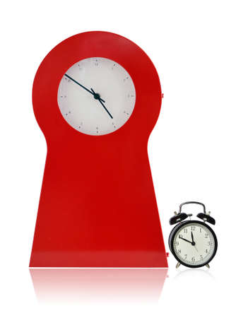 Big Red Clock and Small Black Clock