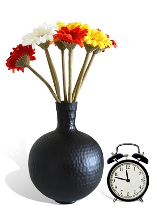 Florist and Clock Gifts white backgound