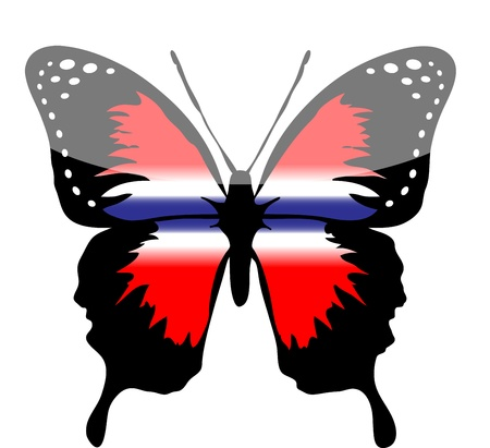 Thailand butterfly line art