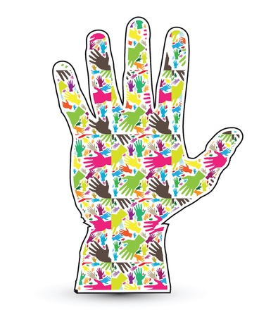 myspace: Hand Abstract Illustration