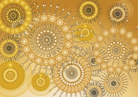 Wallpaper ouro Ilustra��o
