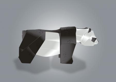 Urso do papel de arte