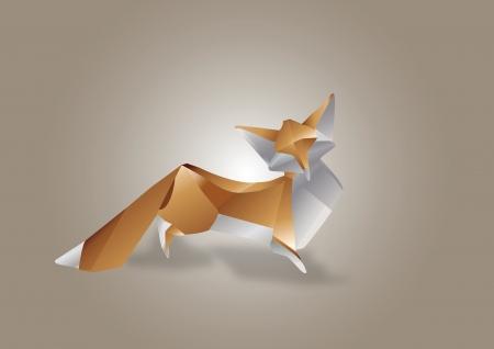 Paper Art Fox Stock Vector - 19079641