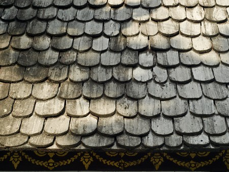 Old chapel roof at Wat Chedi Luang
