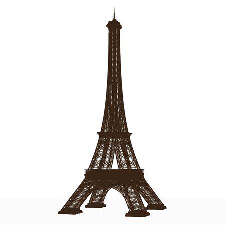 eiffel tower. detailed vector.