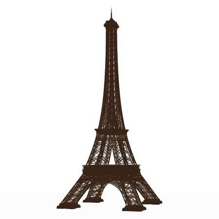eiffel tower. detailed vector. 스톡 콘텐츠 - 149983186