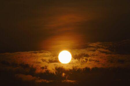 sun in magic sky, real photos