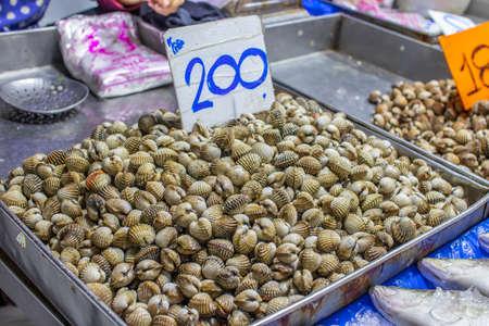 seafood market in Naklua near Pattaya