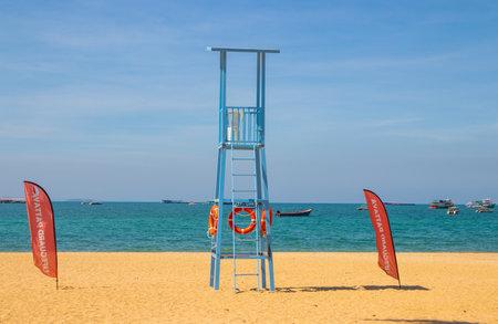 Pattaya district Chonburi Thailand Asia, Lifeguard Station at the beach