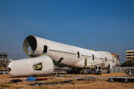 Pattaya District Chonburi Thailand Asia an old discarded airplane or jumbo jet is used as a restaurant and bar event