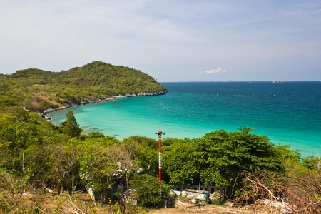 beach on thailand is beautiful in seachang island photo