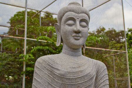 image of stone granite Buddha , at righteous temple , Cholburi , photo