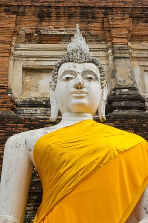 the image of Buddha is big , at heritage world Phra Nakhon Si Ayutthaya park , photo
