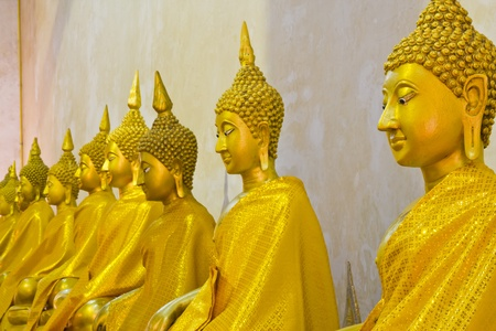 gold Buddha ,at heritage world Phra Nakhon Si Ayutthaya park photo