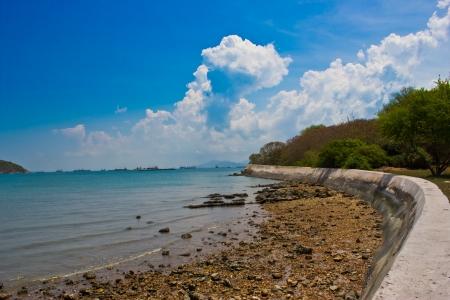 a dam on an island chonburi thailand photo