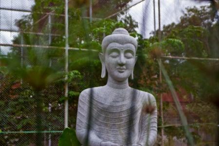 image of stone Buddha , at a temple thrives Cholburi dharma , Stock Photo - 14090720