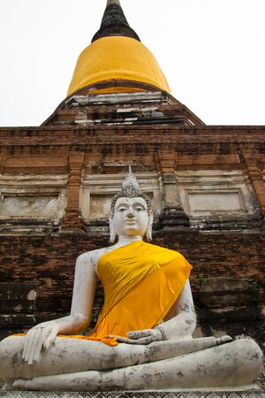 the image of Buddha is big , at heritage world Phra Nakhon Si Ayutthaya park photo