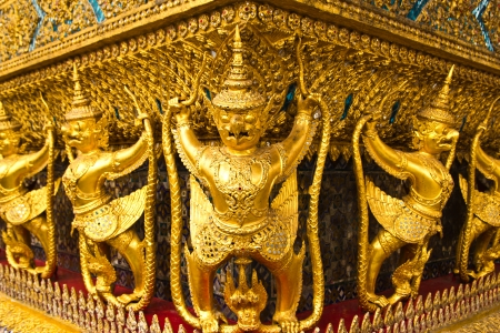 arts corner that a person likes at Temple of the Emerald Thailand Buddha photo