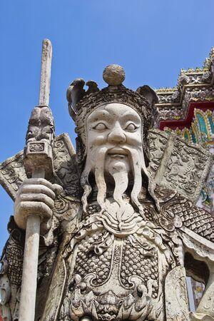 moulded: la figura de combate moldeado que un wat chatuphon tailandia